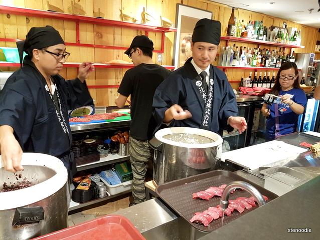 sushi chefs at Ebisu