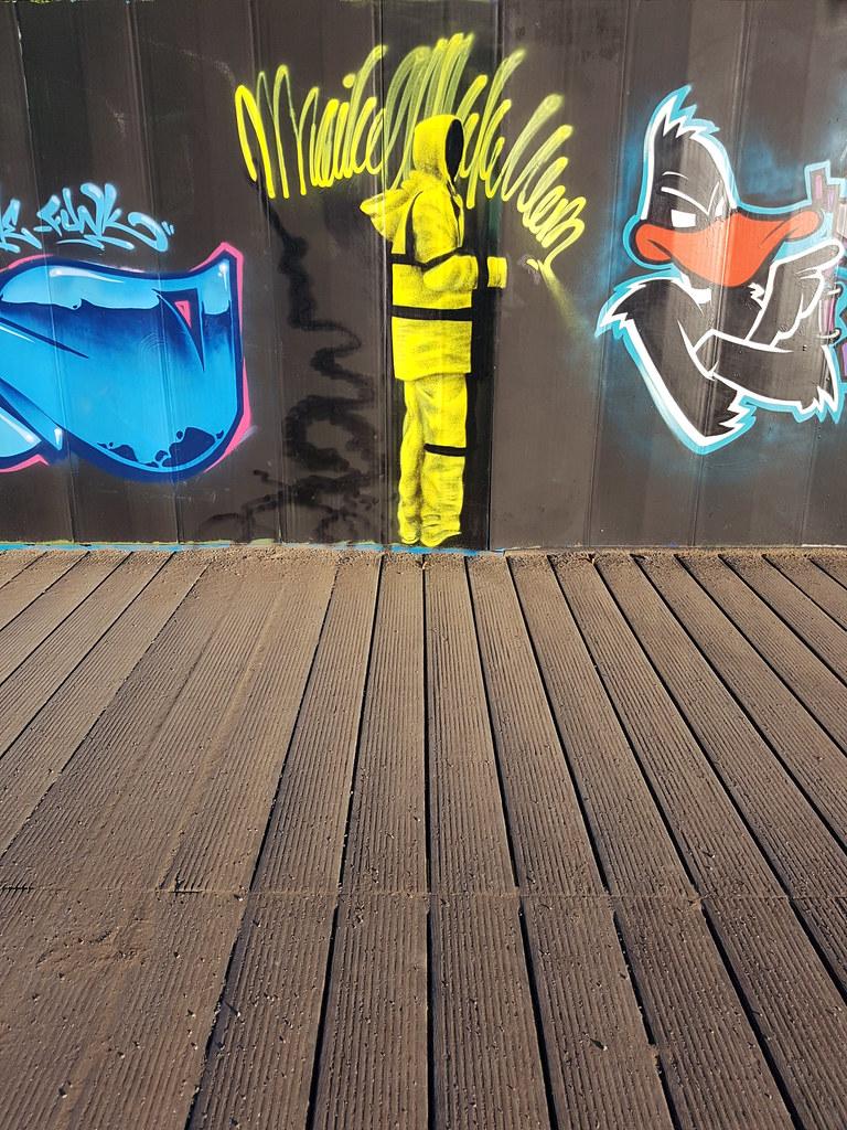Millennium Walkway street art