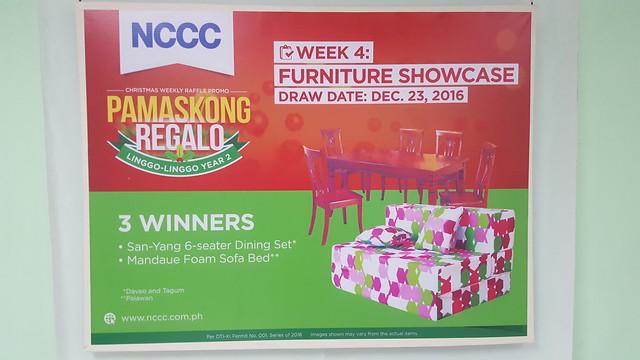 Week 4: Furniture Showcase | NCCC's Pamaskong Regalo, Linggo-linggo Christmas Raffle Promo Year 2 - DavaoLife.com