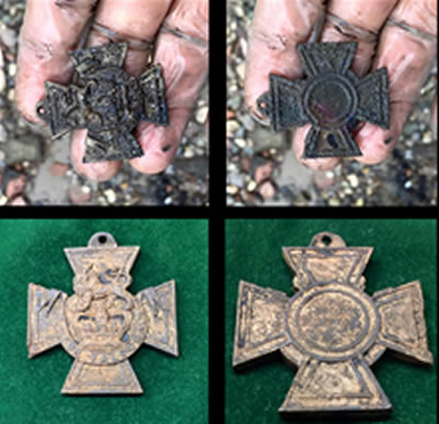 1854 Victoria Cross found in Thames River multi