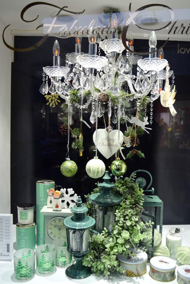 Green Fenwick Christmas Window 2016 | www.rachelphipps.com @rachelphipps
