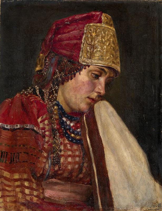 Vasily Surikov - Girl portrait