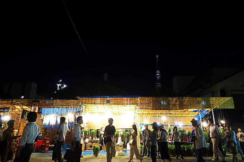 浅草寺ほうずき市 夜