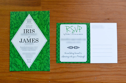 Wedding Invitations - front and back