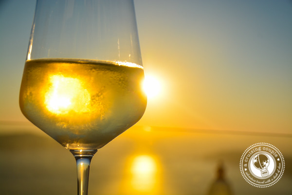 Gastronomy Santorini White Wine Sunset
