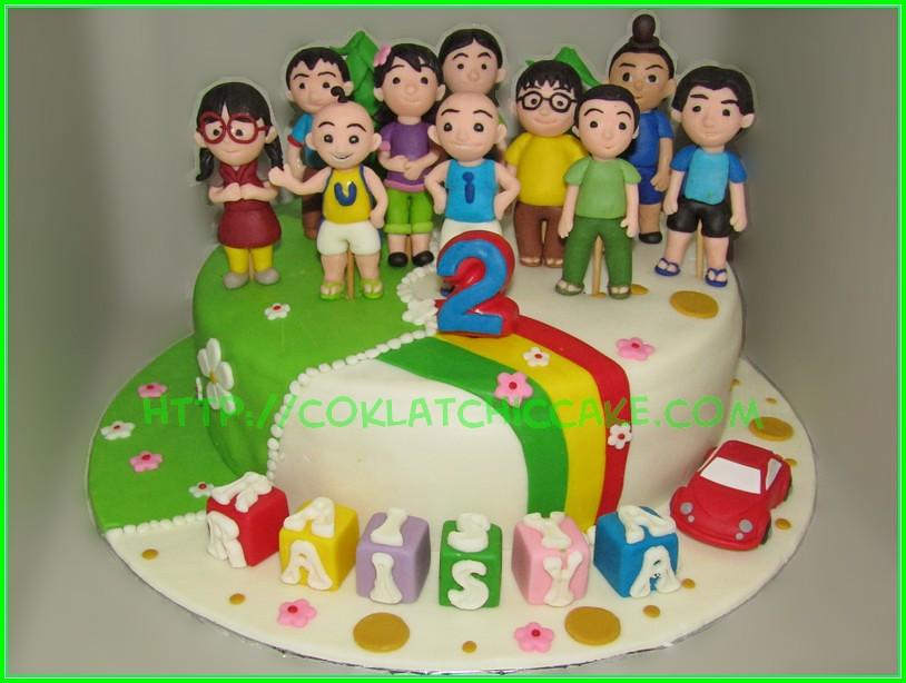 Cake Upin Ipin RAISYA Jual Kue Ulang Tahun