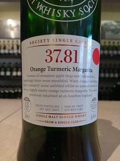 SMWS 37.81 - Orange Turmeric Margarita