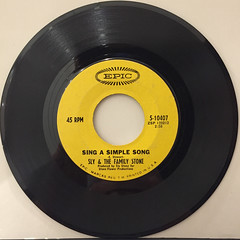 SLY & THE FAMILY STONE:EVERYDAY PEOPLE(RECORD SIDE-B)