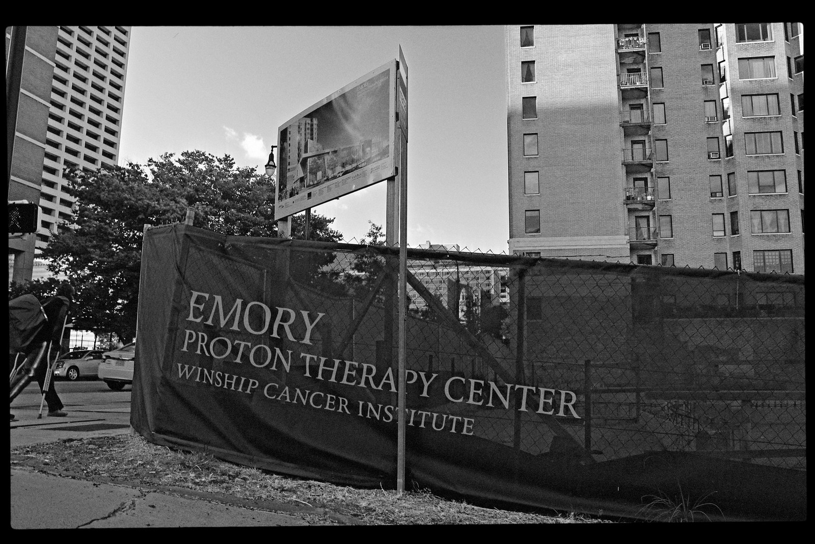 Emory Proton Therapy Center Construction Site, Midtown Atlanta, Sept 2015