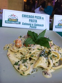 Chicago Pizza Pasta Salmon & Spinach