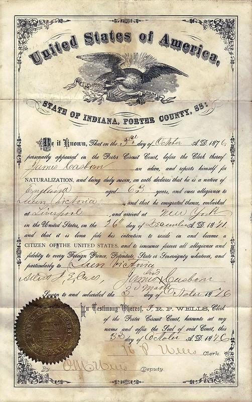 James C Naturalization Cert 1876
