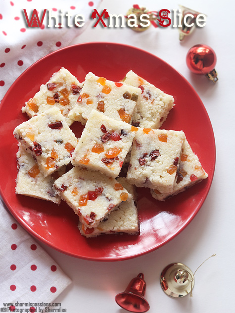 White Christmas Slice Recipe