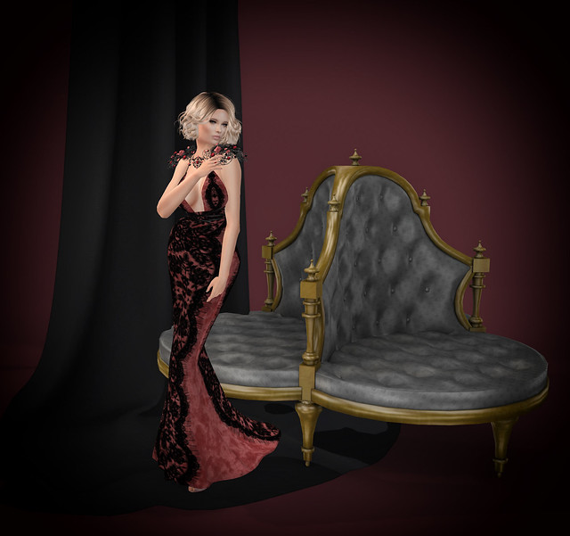 Enchantress gown and shoulder decor,[ Muse], October group gift