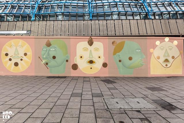 South American street artist Finok on the streets of London
