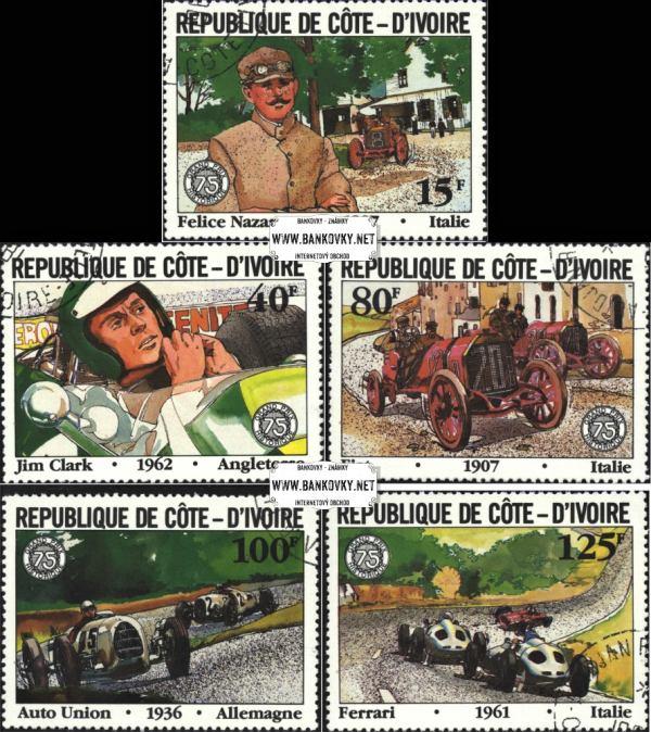 Známky Pobrežie Slonoviny 1981 GP Francúzska razítkovaná séria