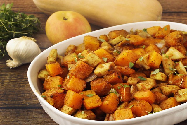 Roasted Butternut Squash and Apple Casserole