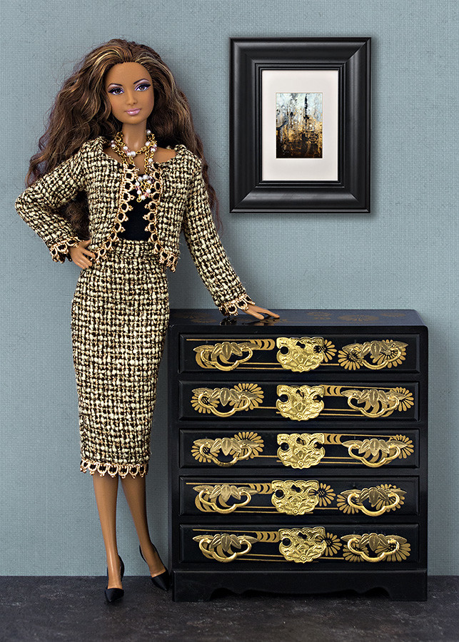 Chanel suit for Barbie