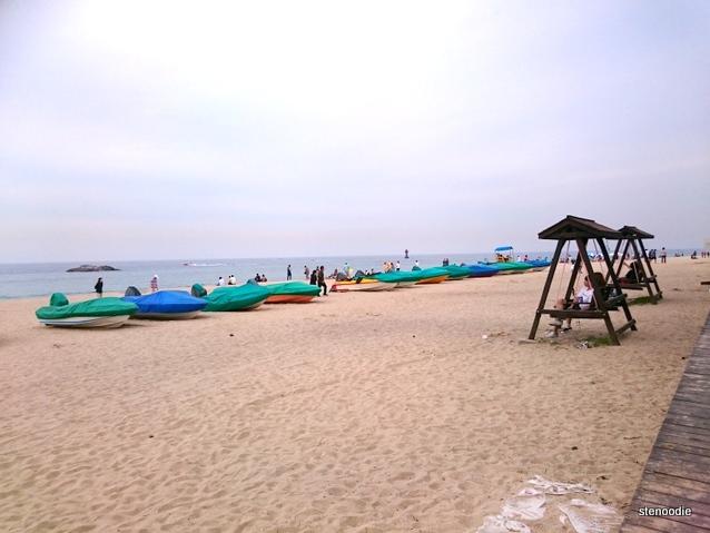 Gyeongpo Beach swings