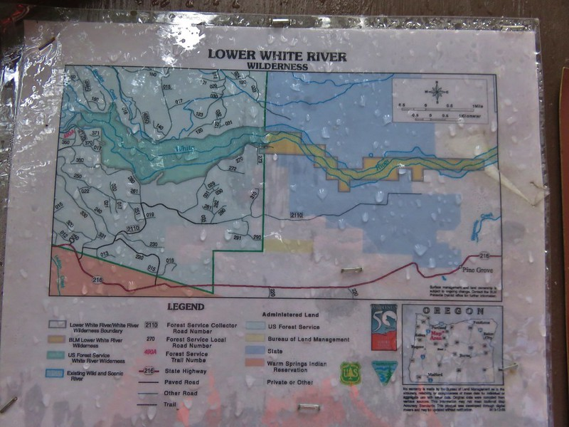 Lower White River Wilderness Sign
