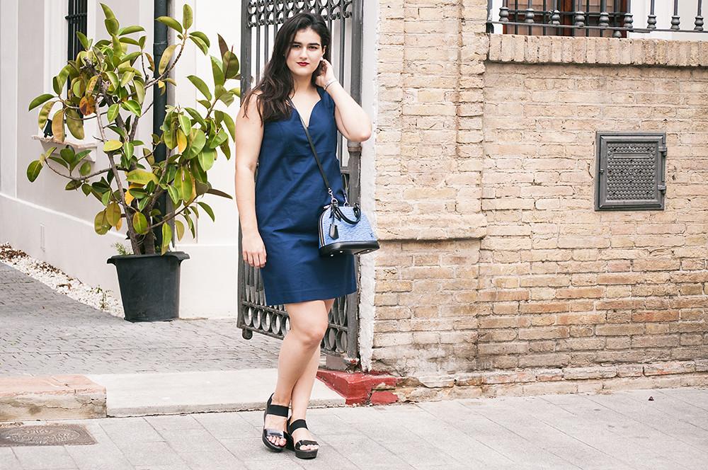 something fashion valencia blogger, LV alma bag vuitton epi, spain moda blog, bimba y lola dress