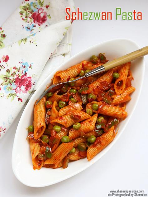 Veg Schezwan Pasta Recipe