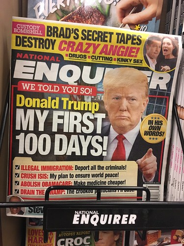 The world is so messed up now that the National Enquirer's headline is just the news.