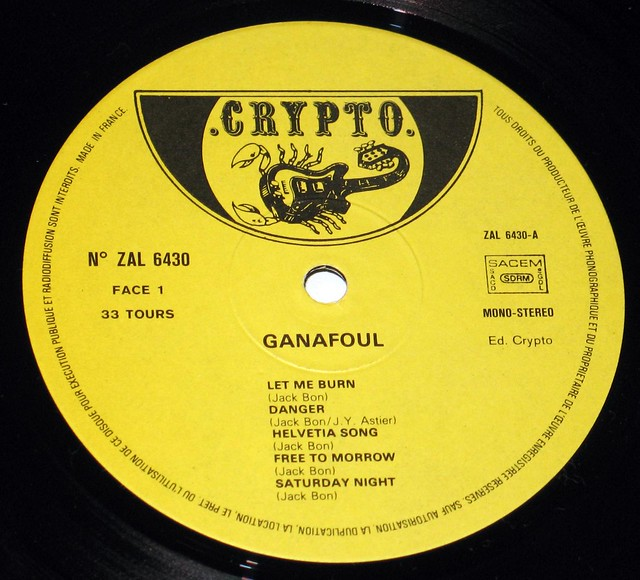 "Ganafoul - Saturday Night 12"" vinyl LP"