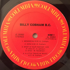 BILLY COBHAM:B.C.(LABEL SIDE-A)