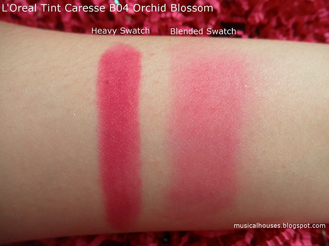 Loreal Tint Caresse Orchid Blossom Swatch B04