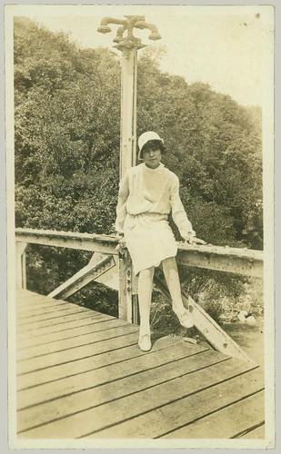 Sitting on a bridge