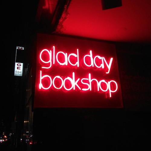 Still aglow #toronto #bookstores #lgbt #gladdaybookshop #pink #neon #yongeandwellesley