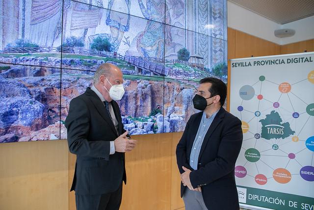 05-100521 El presidente de la Diputación y el alcalde de Casariche abordarán las inversiones provinciales para este municipio en una reunión.