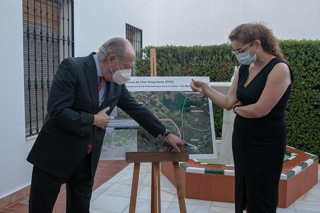 06-110621 El presidente de la Diputación revisará con alcaldes y alcaldesas varios tramos de carreteras en las que se actuará mediante el Plan Contigo.