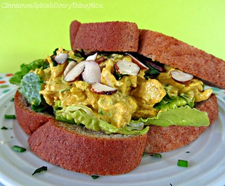 Curried Chicken Salad with Golden Raisins and Almonds | by CinnamonKitchn