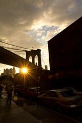 "Sunset by the Brooklyn Bridge by Santos ""Grim Santo"" Gonzalez"