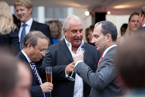Sir Philip Green, Chairman, Arcadia Group (Centre);Chris Grigg, CEO, British Land (R)