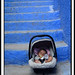 The Sleeping Baby and the Blue Stairs - Bébé dormant et escaliers bleus
