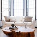The Brooklyn Home Company / Emily Gilbert {eclectic white rustic modern living room}