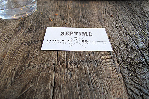 Septime | by David Lebovitz