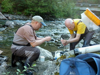 Scott & Edwin Measuring Water Characteristics | by Hope Mountain Centre