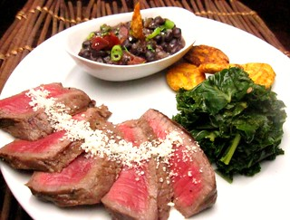 creole steak with bewitched black beans (frijoles negras al brujo) | by SeppySills