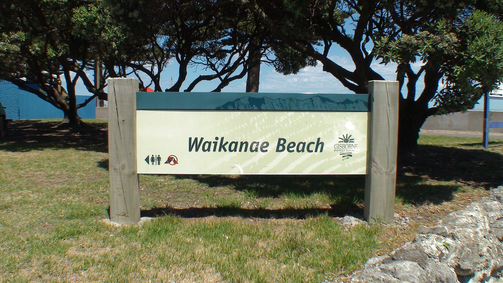 Waikanae Beach Sign