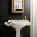 The Brooklyn Home Company / Emily Gilbert {eclectic black and white rustic art deco modern bathroom}