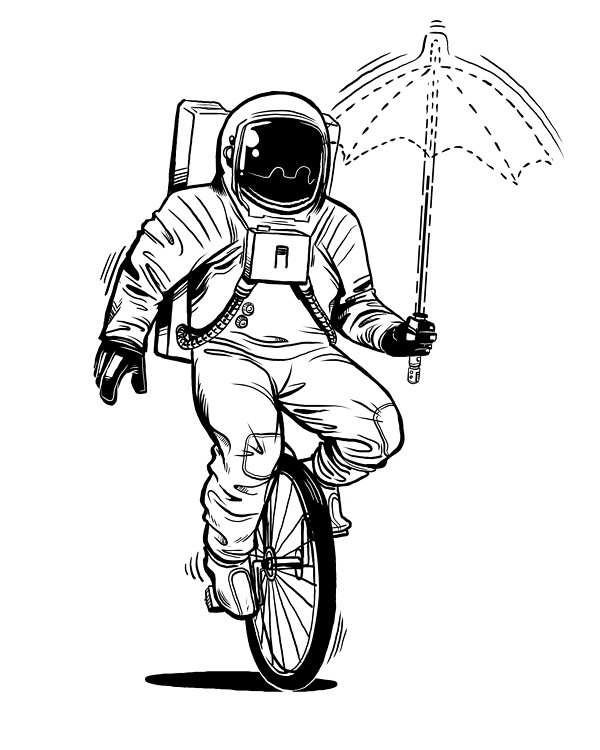 simple astronaut stencil - photo #37