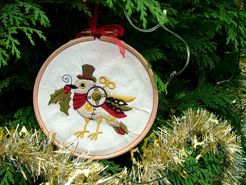 Clockwork Robin Steampunk Christmas Decoration | by HauntedSummer