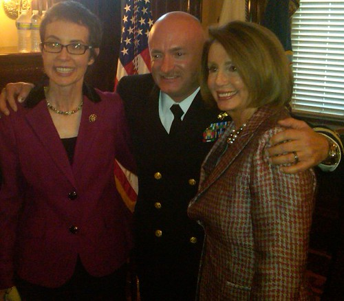 Rep. Giffords, Capt. Mark Kelly, and Leader Nancy Pelosi | by Leader Nancy Pelosi