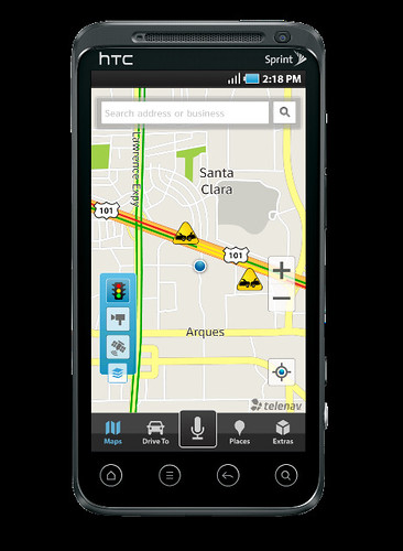 TeleNav GPS Navigator Map Screen | by telenavpr
