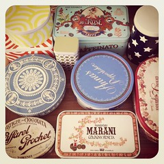 instant collection of vintage tins by greta♥loves