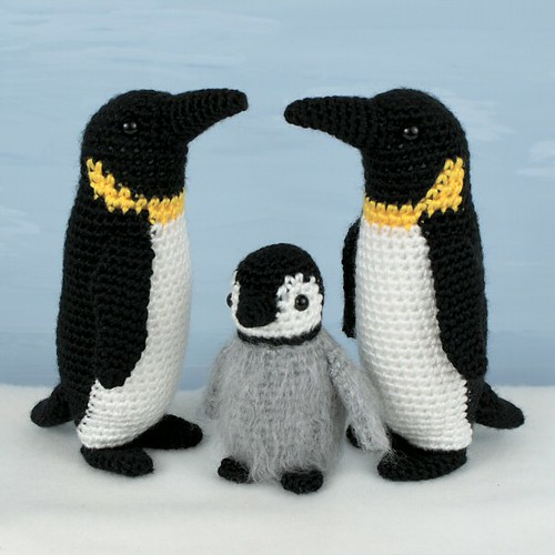 crocheted emperor penguin family | by planetjune