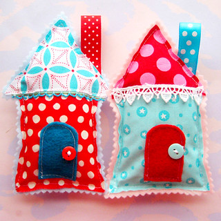 Little Aqua and Red Houses | by Laurie Star